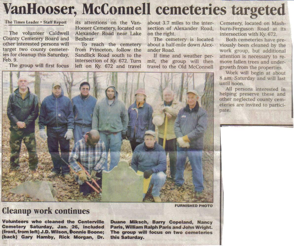 Caldwell Co Cemetery Board 2008
